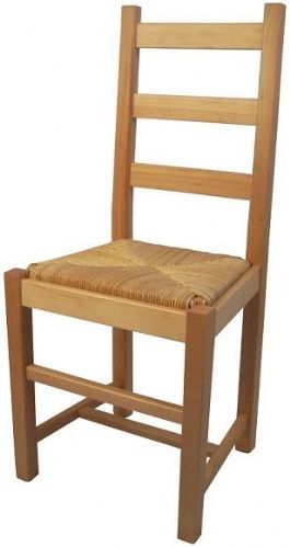 Farmhouse Shaker Rush Back Chair